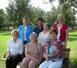 2009-2010 Officers: Seated are, from left, Coleen Landry, Iona Myers,and Polly Thomas. Standing are Sue Rooney, Marguerite Ricks and Diane Currie.