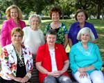 Seated: Polly Thomas, Sue Rooney and Linda Deichmann.  Standing: Rubye Evans, Iona Myers, Beverly Bond and Pat Hanemann.