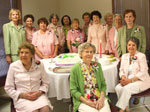Past presidents celebrating 72nd anniversary of Metairie Woman's Club at Founders Day 2011.  Seated, from left, Julie Lawton, Sadie Gilmore and Marguerite Ricks.  Standing from left, Coleen Landry, Irene Rogillio, Mary Membreno, Beverly Watts, Linda Gallagher, Kathleen McGregor, Jane Livaudais, Evelyn Smith, Beverly Christina, Iona Myers and Irma Klein.